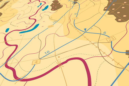 Editable illustration of a generic road map without names Vector