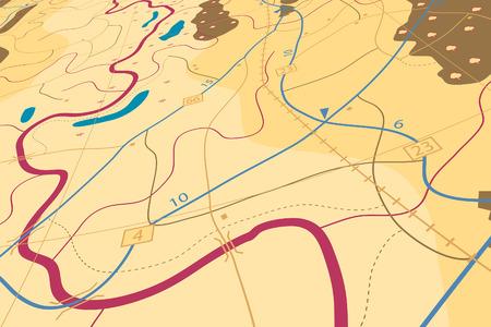 slanted: Ilustraci�n editable de una hoja de ruta gen�rica sin nombres