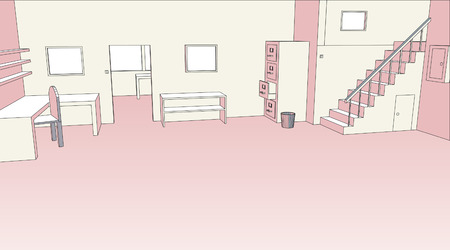 text room:   sketch of an empty office interior
