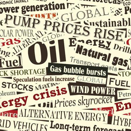 peri�dico: azulejos y baldosas transparente de los titulares de energ�a  Vectores