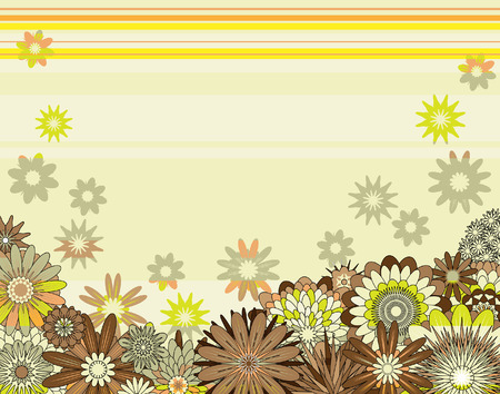 Background editable  illustration of mixed flowers Stock Vector - 7615367