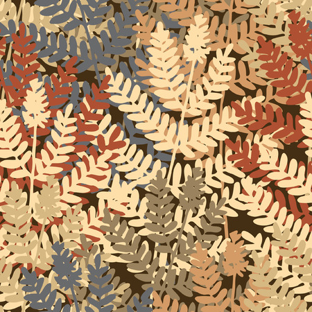 frond: Editable   seamless tile of fern leaves