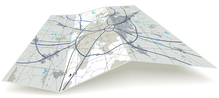 fold: Detailed editable   folding map with no names