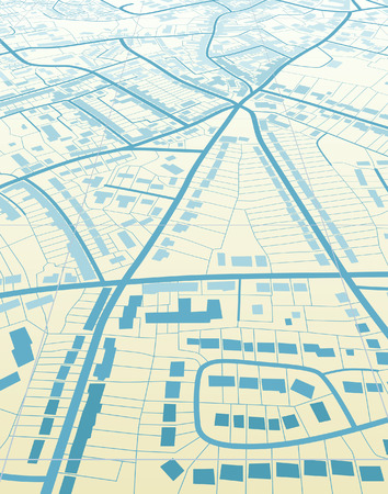 navigation map: Editable  illustration of a generic street map without names