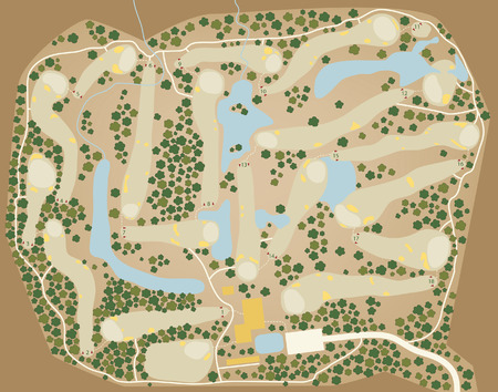 game plan: Editable  map of a generic golf course