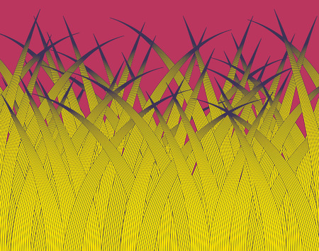 grass blades: Editable  design of stylized grass blades Illustration