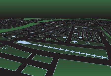 conurbation: sreetmap of a generic city at night