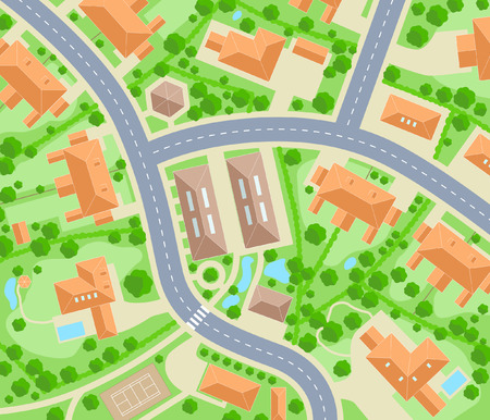 Editable   map of a generic residential area Stock Vector - 7794733