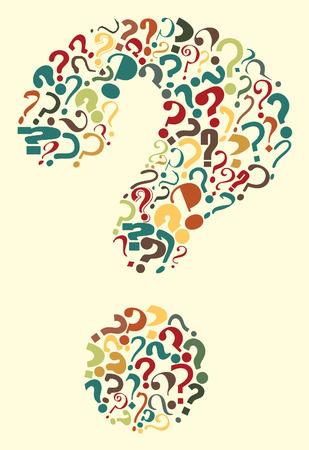 unsure: Modificabile punto interrogativo, formata da molti interrogativi