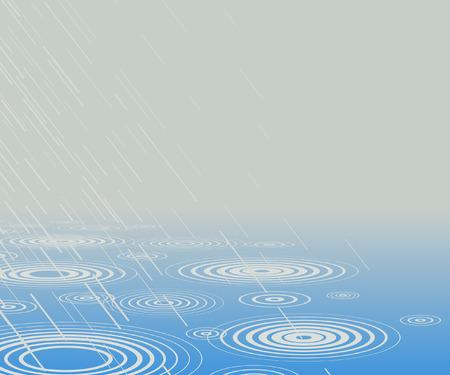 drench: Ilustraci�n editable de la lluvia caer en agua con espacio de copia  Vectores
