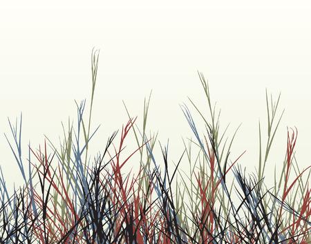 grass verge: Editable  foreground design of rough grass Illustration