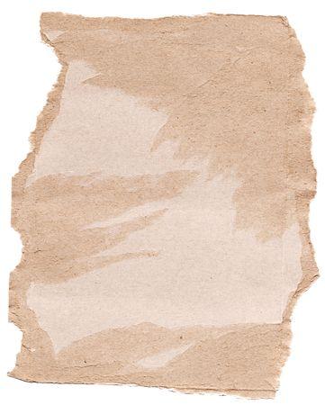 High resolution scrap of torn brown cardboard photo