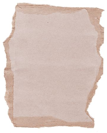 High resolution piece of torn brown cardboard photo
