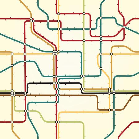 estación del metro: Azulejos y baldosas de editabl transparente de un mapa del metro gen�rico  Vectores