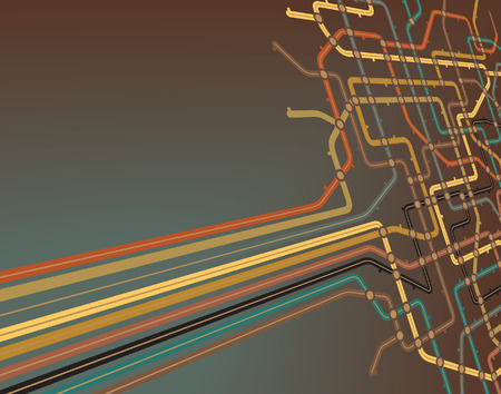 slant: Abstract editable  background of a subway map Illustration