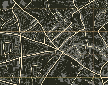 Editable   illustration of a detailed generic street map without names