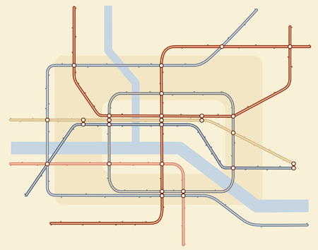 zoned:   illustration of a generic subway train map Illustration