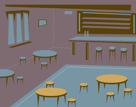 bar interior: Editable illustration of an empty bar or pub as a background