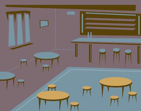 bar interior: Editable illustration of an empty bar or pub as a background