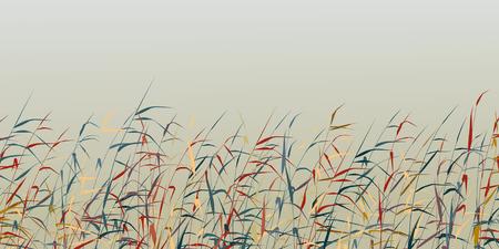 fringe: Editable silhouette of a colorful reed fringe Illustration