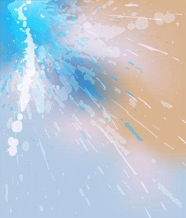 watery: Illustrazione modificabile con trasparenze e maglia di colore di una spruzzata acquosa con copy-space