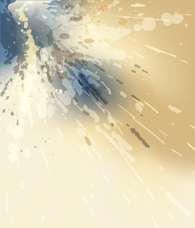 watery: Editable illustration using transparencies and color mesh of a watery splash with copy-space
