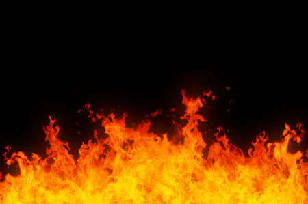 blaze: Rendered image of a raging fire on black