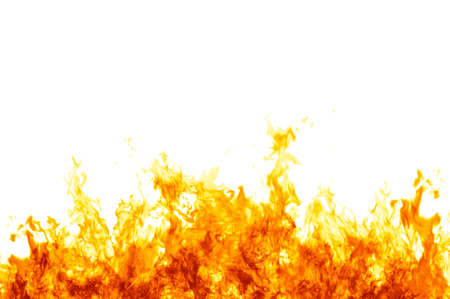 blazing: Rendered flames on a white background