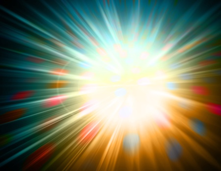 Abstract background of a colorful burst of light Stock Photo - 9130361