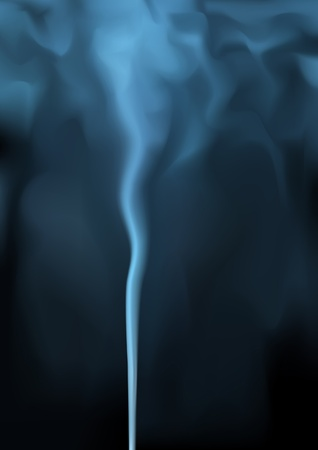 Editable vector background illustration of rising blue smoke made with a gradient mesh Vector