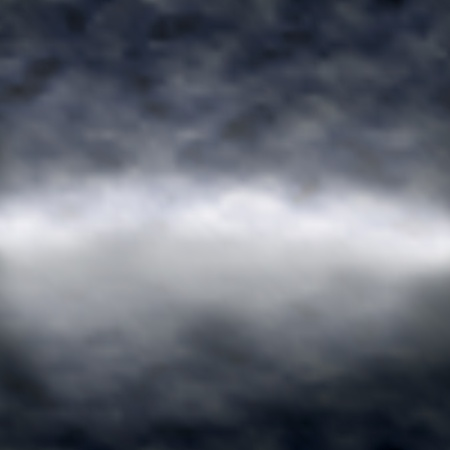 clouds over a misty lake with reflection, made using a gradient mesh Stock Vector - 9758902