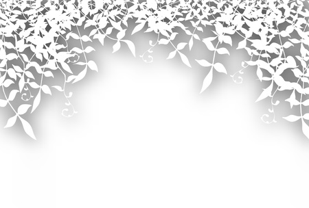 undergrowth: Editable vector illustration of bushy white foliage cutout with background shadow made using a gradient mesh Illustration