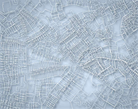 street map: Editable vector blueprint sketch of a detailed generic street map without names with background made using a gradient mesh