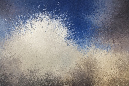 grays: Abstract background painting of dot splatters in blue and grays Stock Photo