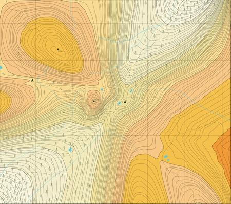 accidentado: Mapa editable gen�rico de un �rea natural con senderos