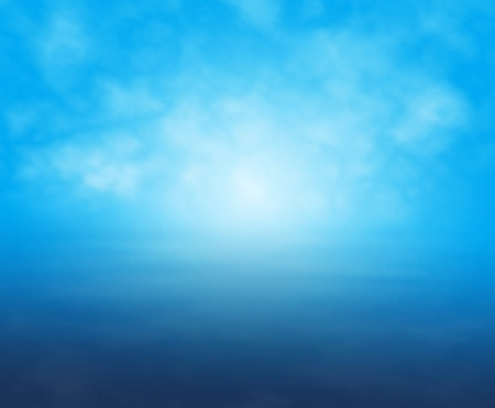 illustration of a misty light over water in blue Stock Vector - 11429663