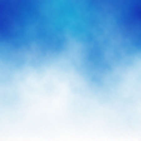 backgrounds: Editable vector background of white cloud detail in a blue sky made using a gradient mesh