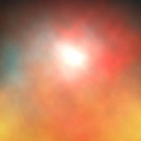 shining through: Editable vector background of a light or sun shining through colorful smoke or clouds made using a gradient mesh