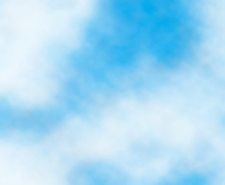 drifts: Editable vector background detail of white clouds in a blue sky Illustration