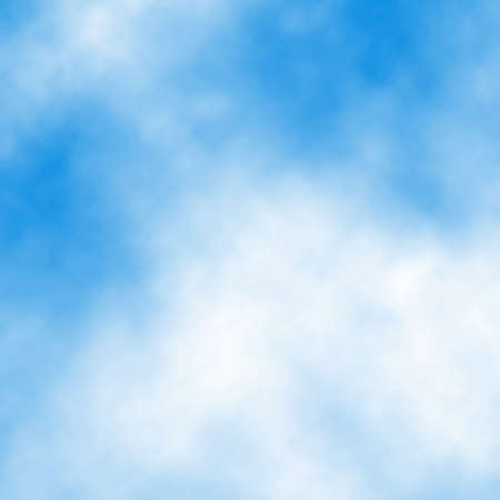 Editable vector illustration of white cloud detail in a blue sky made using a gradient mesh Stock Vector - 14736834