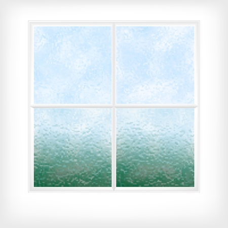 window pane: Editable vector illustration of a frosted glass window or door made using gradient meshes