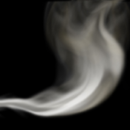 drifting: Editable vector illustration of a trail of smoke blowing and drifting up made using a gradient mesh Illustration