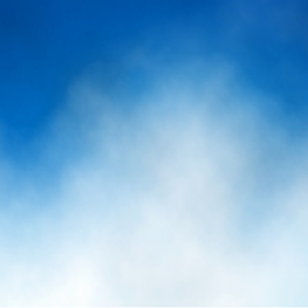 Editable illustration of cloud detail in a blue sky made with a gradient mesh Vector