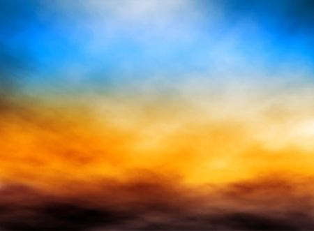 Editable illustration of bank of clouds in a sunset sky made with a gradient mesh Vector