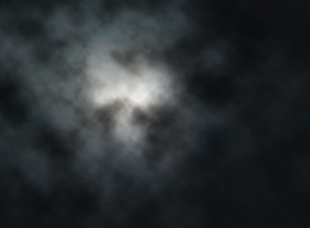 gradient mesh: Editable illustration of clouds lit by the moon at night made with a gradient mesh