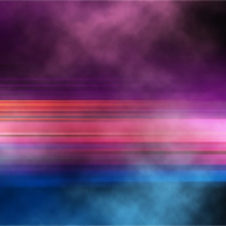 gradient mesh: Editable vector abstract illustration of a colorful stripe with smoke or steam, made using a gradient mesh