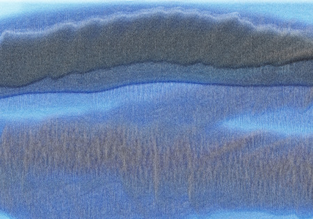 gritty: Abstract painting in blue with gritty texture