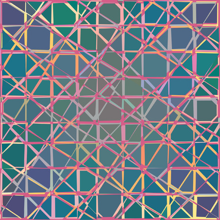shards: Editable colorful abstract pattern of broken tiles