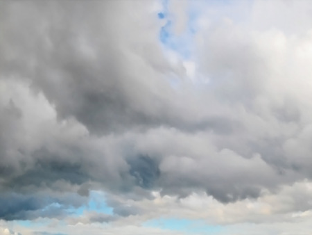 rainclouds: Editable vector illustration of a cloudy sky made using a gradient mesh Illustration