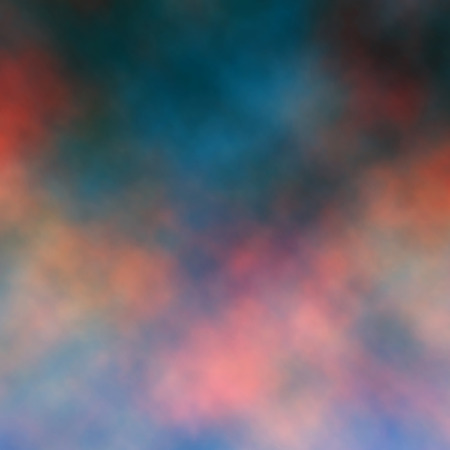 Editable vector illustration of a colorful sunset cloud detail made using a gradient mesh